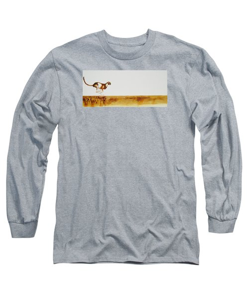 Cheetah Race - Original Artwork Long Sleeve T-Shirt