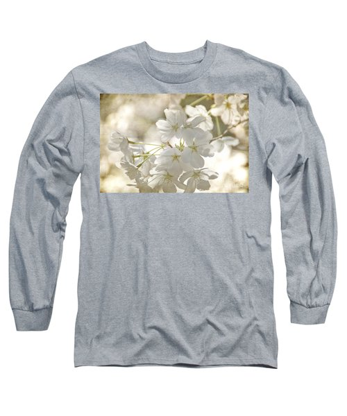 Cherry Blossoms Long Sleeve T-Shirt by Peggy Hughes