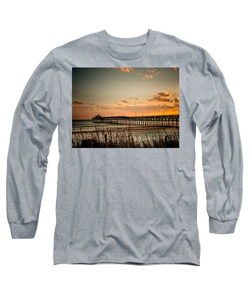 Cherry Grove Pier Myrtle Beach Sc Long Sleeve T-Shirt by Trish Tritz