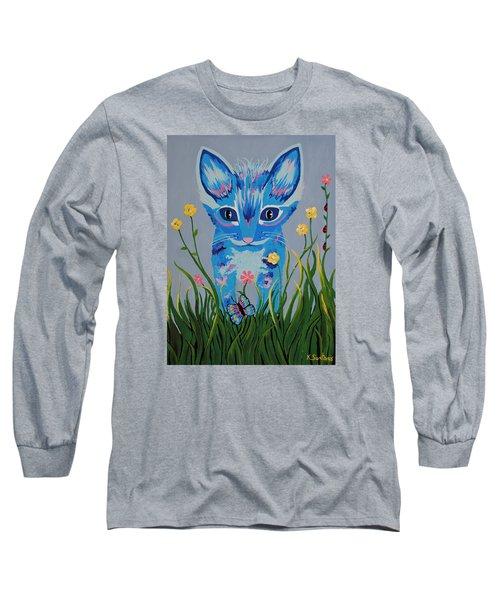 Long Sleeve T-Shirt featuring the painting Chibi by Kathleen Sartoris