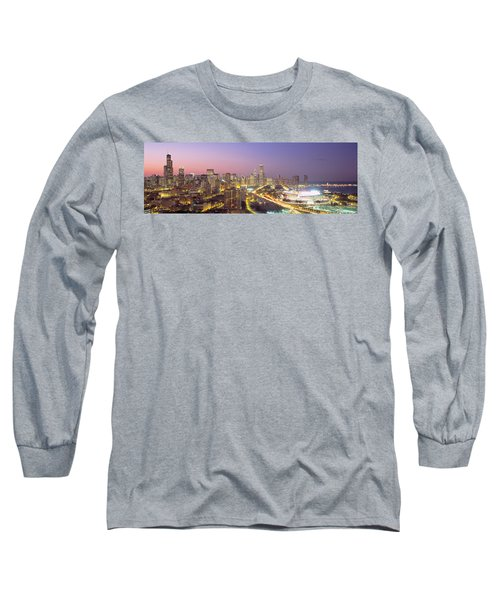 Chicago, Illinois, Usa Long Sleeve T-Shirt by Panoramic Images
