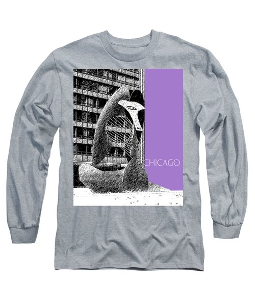 Chicago Pablo Picasso - Violet Long Sleeve T-Shirt