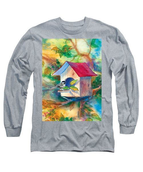 Chickadee Bungalow Long Sleeve T-Shirt