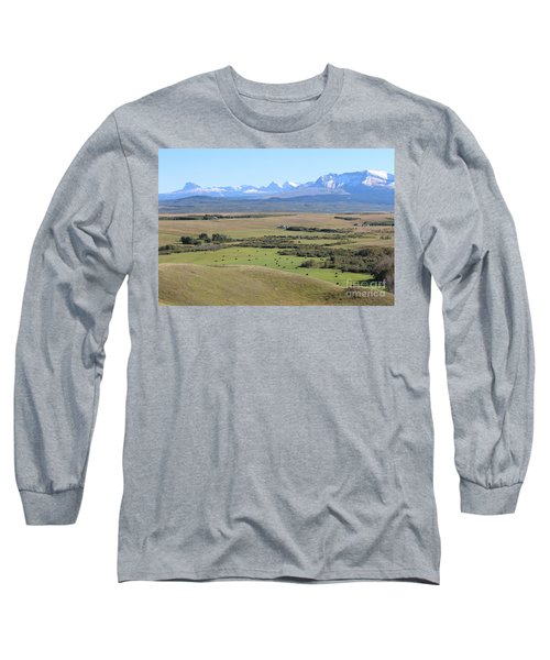 Long Sleeve T-Shirt featuring the photograph Chief Mountain by Ann E Robson