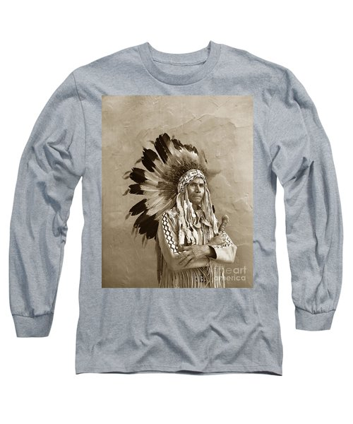 Chief Red Eagle Carmel California Circa 1940 Long Sleeve T-Shirt
