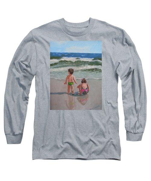 Children On The Beach Long Sleeve T-Shirt