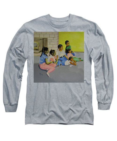 Long Sleeve T-Shirt featuring the painting Children's Attention Span  by Thomas J Herring