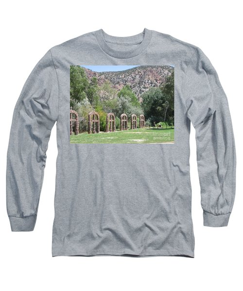 Long Sleeve T-Shirt featuring the photograph Chimayo Sanctuary In New Mexico by Dora Sofia Caputo Photographic Art and Design