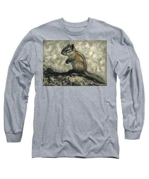 Chipmunk  Long Sleeve T-Shirt by Sandra LaFaut