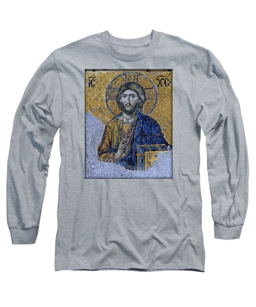 Christ Pantocrator -- Hagia Sophia Long Sleeve T-Shirt