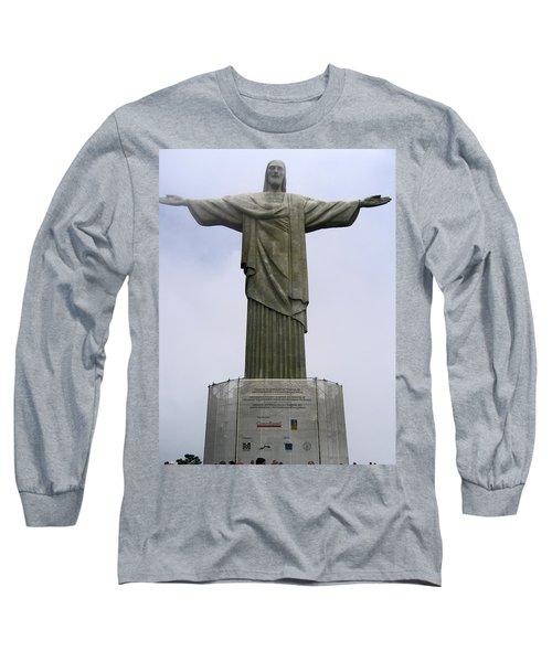 Christ The Redeemer Rio Long Sleeve T-Shirt by Jay Milo