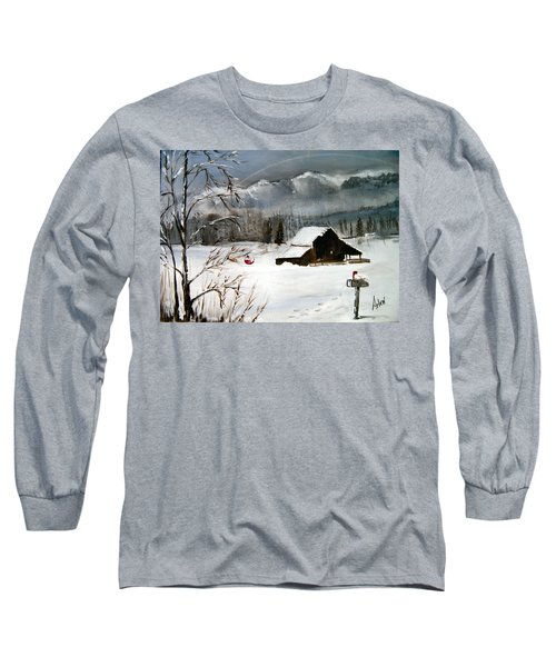 Christmas Farm House Long Sleeve T-Shirt