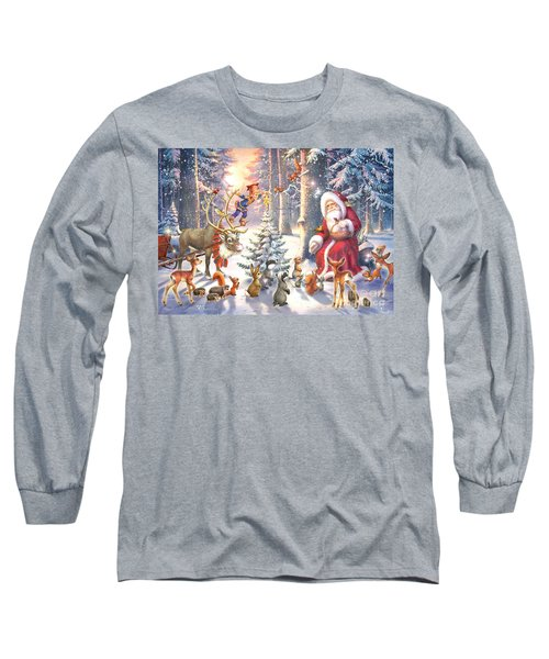 Christmas In The Forest Long Sleeve T-Shirt