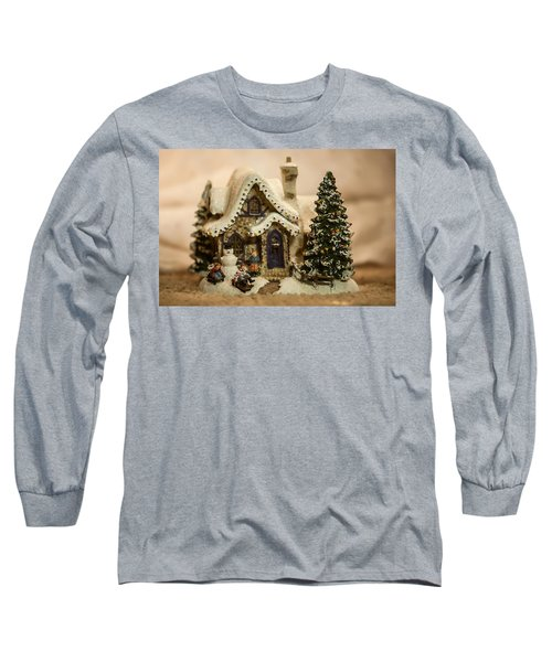 Long Sleeve T-Shirt featuring the photograph Christmas Toy Village by Alex Grichenko