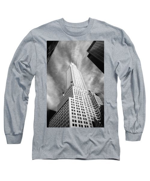 Chrysler Building Infrared Long Sleeve T-Shirt