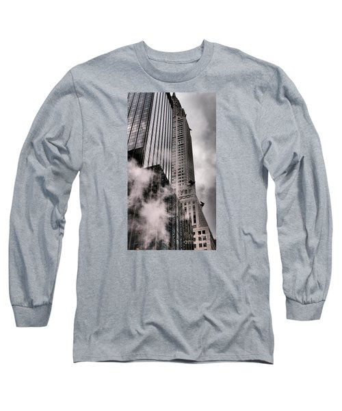 Chrysler Building With Gargoyles And Steam Long Sleeve T-Shirt by Miriam Danar