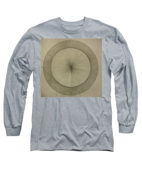 Long Sleeve T-Shirt featuring the drawing Circles Don't Exist Two Degree Frequency by Jason Padgett