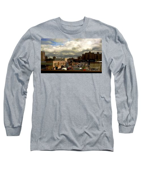 Long Sleeve T-Shirt featuring the photograph City And Sky by Miriam Danar