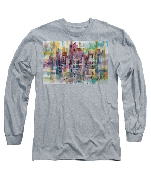 City Reflections Long Sleeve T-Shirt by Debbie Lewis