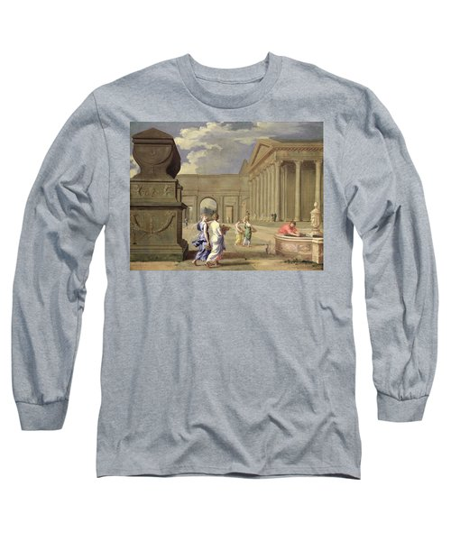 Classical Landscape Oil On Canvas Long Sleeve T-Shirt