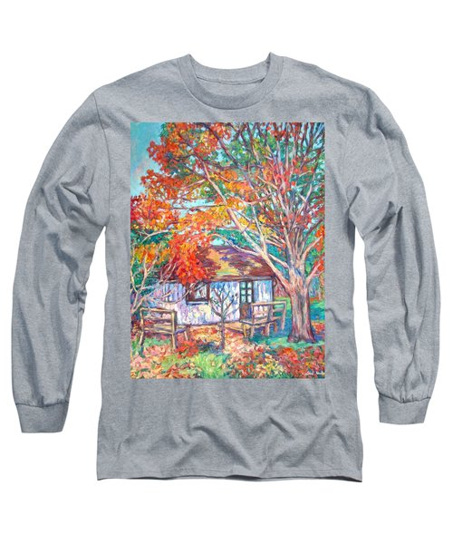 Claytor Lake Cabin In Fall Long Sleeve T-Shirt