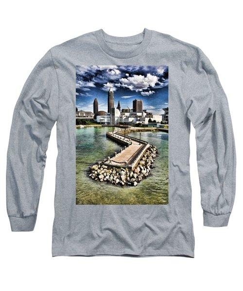 Cleveland Inner Harbor - Cleveland Ohio - 1 Long Sleeve T-Shirt