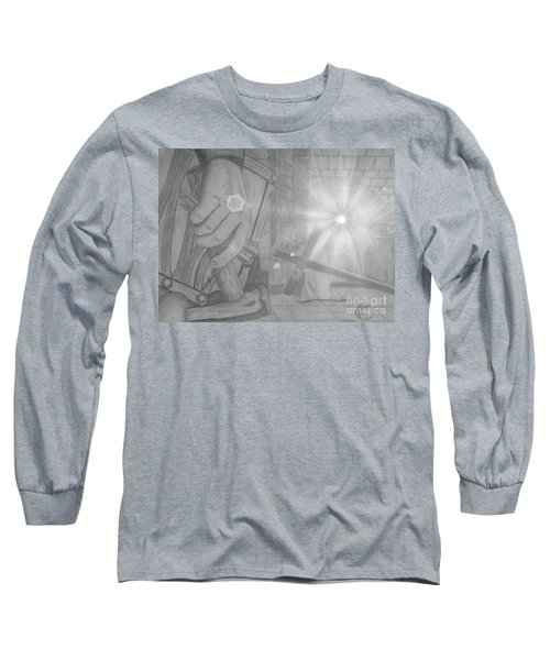 Clinging To The Cross Lights Long Sleeve T-Shirt by Justin Moore