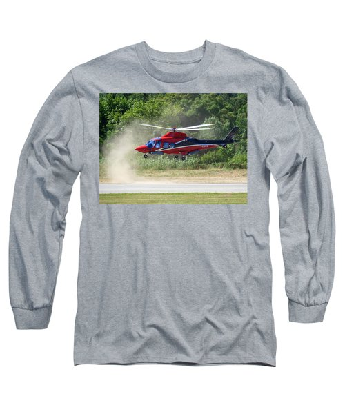 Close Landing  Long Sleeve T-Shirt by Rogerio Mariani