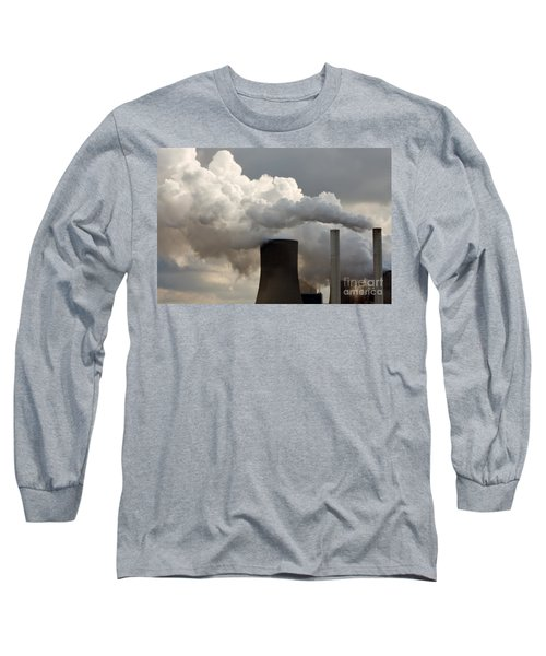 Coal Power Station Blasting Away Long Sleeve T-Shirt