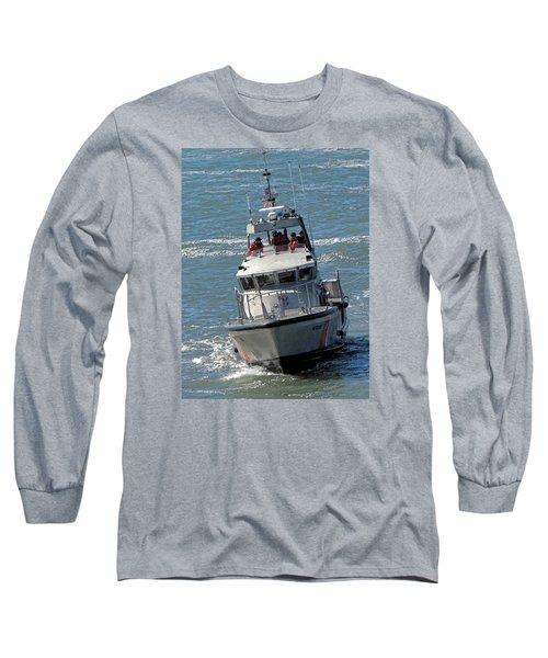 Coast Guard At Depot Bay Long Sleeve T-Shirt by Chris Anderson