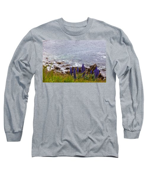 Coastal Cliff Flowers Long Sleeve T-Shirt