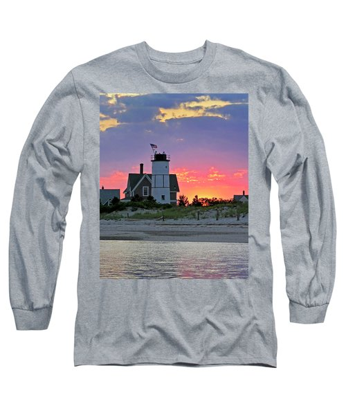 Cocktail Hour At Sandy Neck Lighthouse Long Sleeve T-Shirt