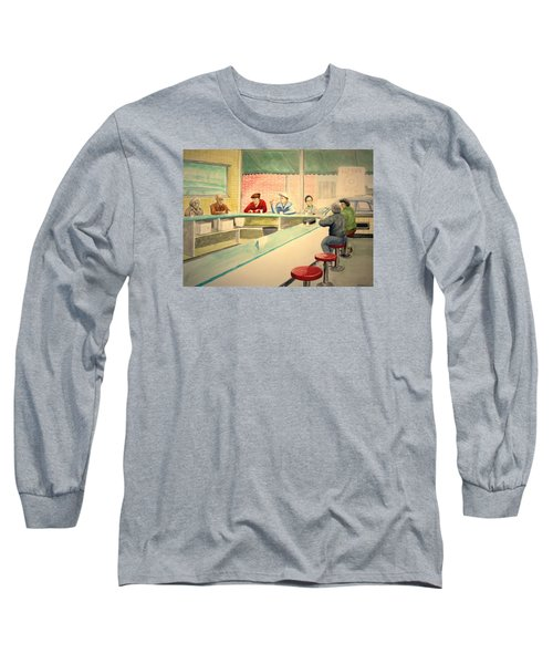 Coffee And Doughnuts Long Sleeve T-Shirt by Stacy C Bottoms