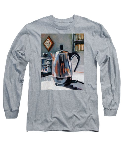Long Sleeve T-Shirt featuring the painting Coffeepot by Pattie Wall
