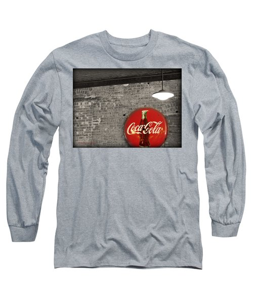 Coke Cola Sign Long Sleeve T-Shirt by Paulette B Wright