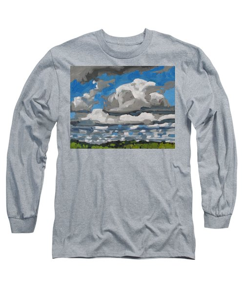 Cold Air Mass Cumulus Long Sleeve T-Shirt by Phil Chadwick