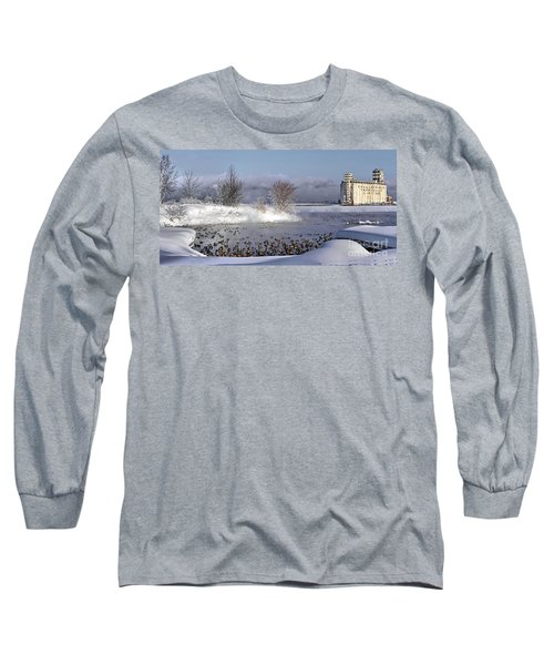 Collingwood Terminal Building In Winter  Long Sleeve T-Shirt