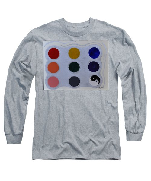 Color From The Series The Elements And Principles Of Art Long Sleeve T-Shirt by Verana Stark