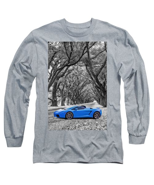 Color Your World - Lamborghini Gallardo Long Sleeve T-Shirt by Steve Harrington