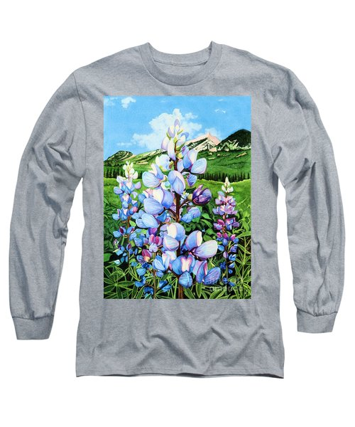 Colorado Summer Blues Long Sleeve T-Shirt by Barbara Jewell