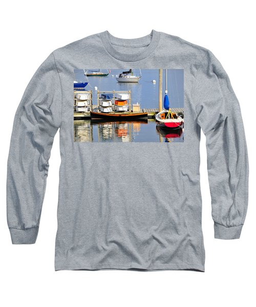 Colorful Boats Rockland Maine Long Sleeve T-Shirt