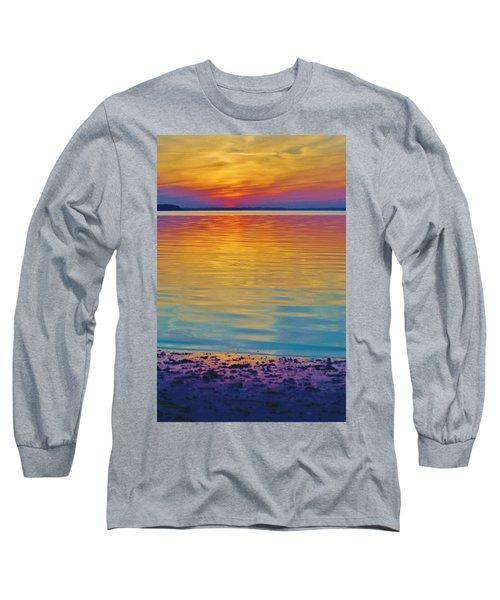 Colorful Lowtide Sunset Long Sleeve T-Shirt