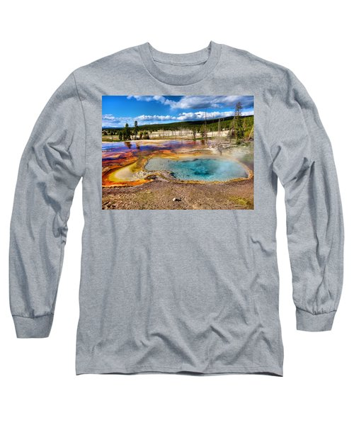Colors Of Yellowstone National Park Long Sleeve T-Shirt
