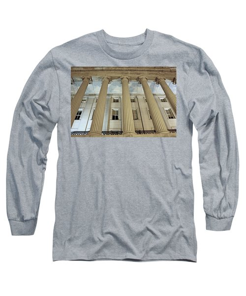 Long Sleeve T-Shirt featuring the photograph Columns Of History by Suzanne Stout