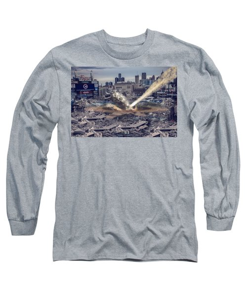 Long Sleeve T-Shirt featuring the photograph Comerica Park Asteroid by Nicholas  Grunas