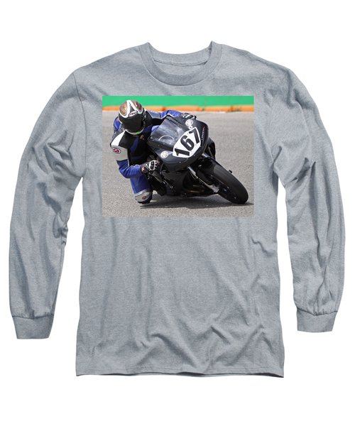 Long Sleeve T-Shirt featuring the pyrography Coming Into The Curve by Shoal Hollingsworth