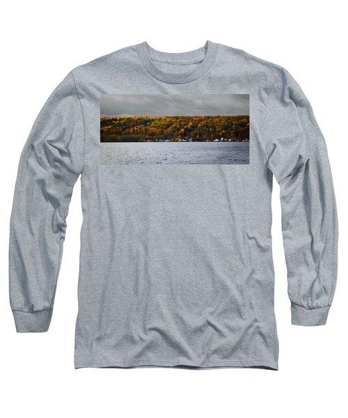 Conesus Lake Autumn Long Sleeve T-Shirt by Richard Engelbrecht
