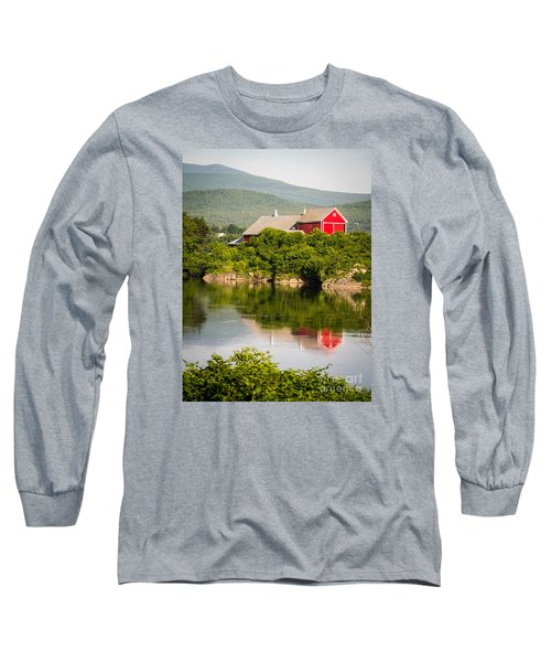 Long Sleeve T-Shirt featuring the photograph Connecticut River Farm by Edward Fielding