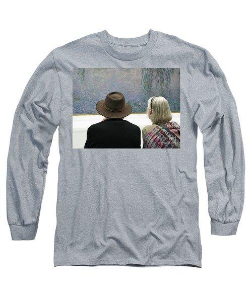 Long Sleeve T-Shirt featuring the photograph Contemplating Art by Ann Horn