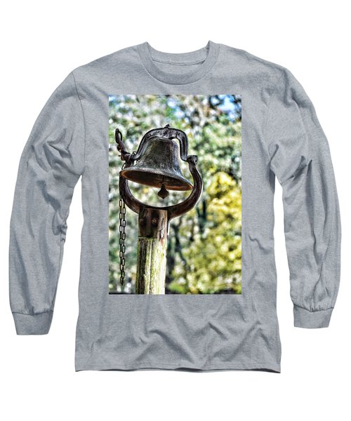 Long Sleeve T-Shirt featuring the photograph Cooks Dinner Bell by Jan Amiss Photography